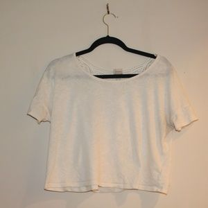 Target Crop Top with Detailed Back